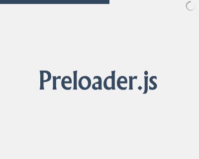 Preloader.js – загрузка страницы как на YouTube